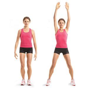прыжок с подъемом рук вверх