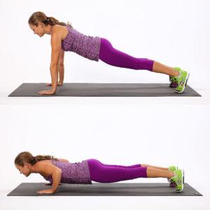 отжимания - упражнение для похудения