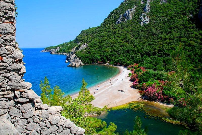Лучшие пляжи Турции - Пляж Олимпос (Кемер)