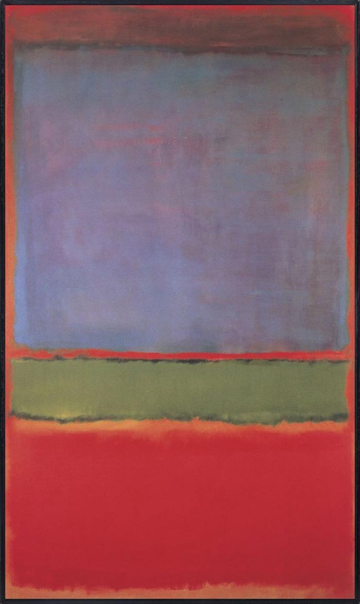 Самые дорогие картины мира - Марк Ротко «№ 6 (Фиолетовое, зелёное и красное)»