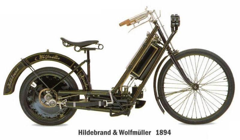 самые дорогие мотоциклы в мире - Hildebrand & Wolfmuller