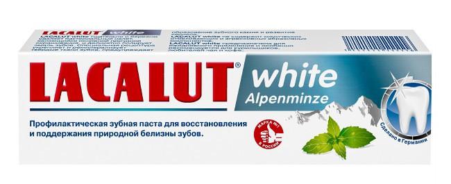 Лучшие зубные пасты - Lacalut white