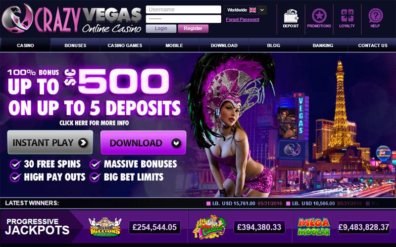 лучшие интернет казино - Crazy Vegas Casino