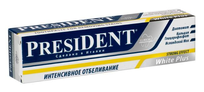 Лучшие зубные пасты - President White