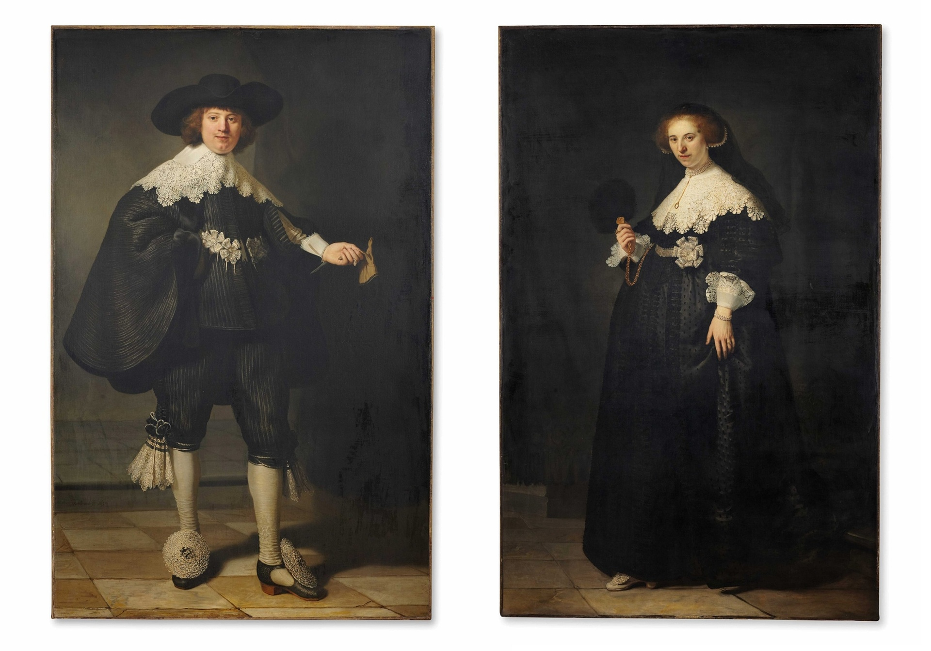 Самые дорогие картины мира - Рембрандт ван Рейн «Портреты Мартена Сольманса и Опьен Коппит»