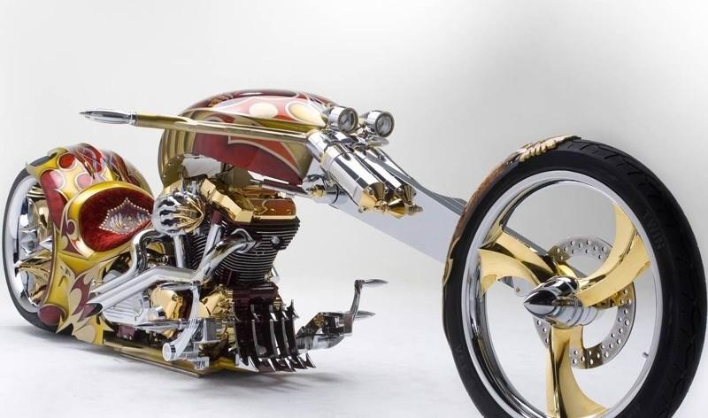 самые дорогие мотоциклы в мире - Yamaha Road Star BMS (Золотойчоппер)