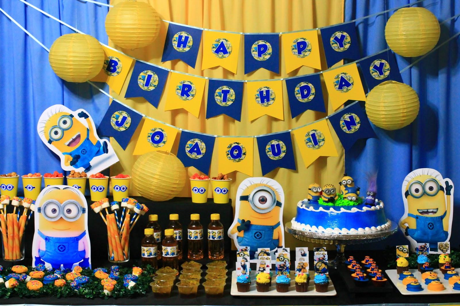 глубине день рождения миньоны 10 лет ряд идей