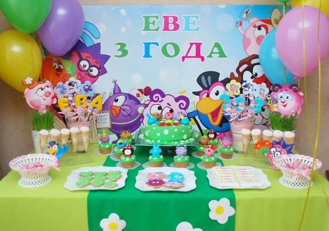 Идеи для детского дня рождения  - День рождения в стиле «Смешарики»