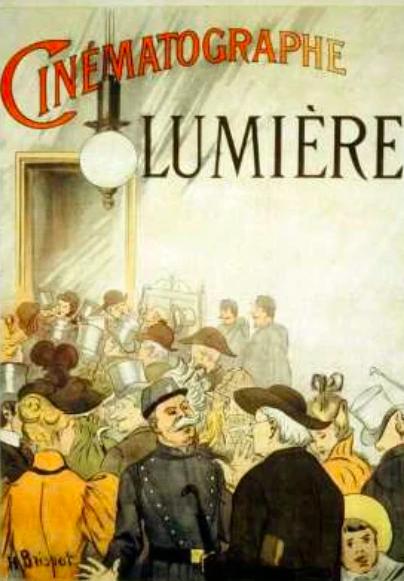 Плакат к кинопоказам братьев Люмьер