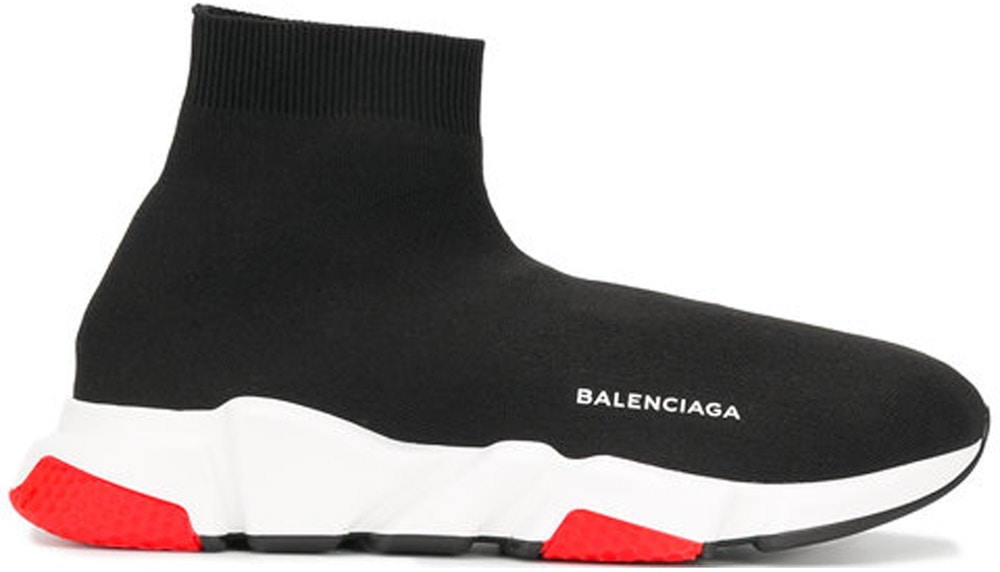 BALENCIAGA SPEED TRAINER BLACK WHITE RED