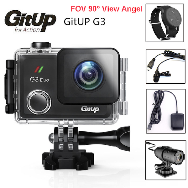 Комплектация GitUp G3 Duo Pro Packing