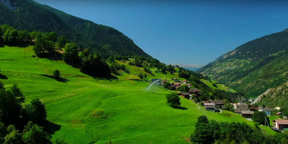Альпийские луга Швейцарии