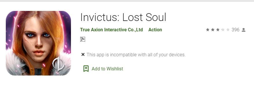 Invictus Lost Soul android игра
