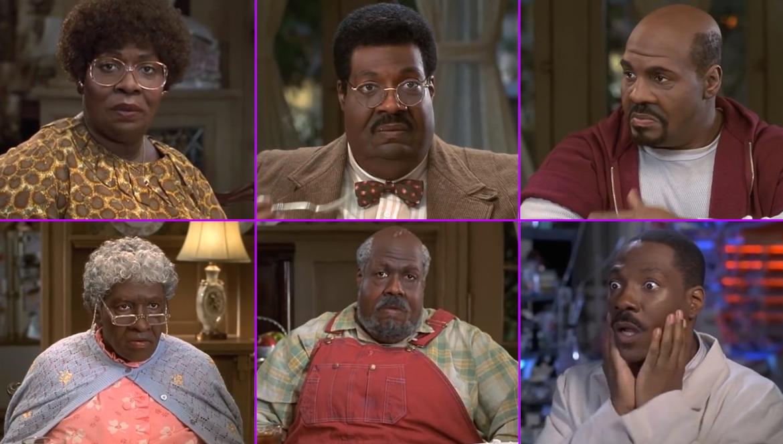 Эдди Мерфи играет несколько ролей в «Чокнутом профессоре»